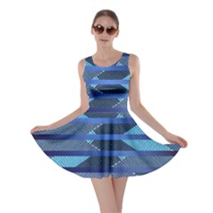 Abric Texture Alternate Direction Skater Dress by Jojostore