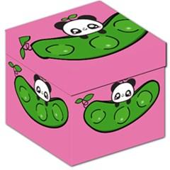 Edamame Panda Pink Cute Animals Storage Stool 12   by Jojostore