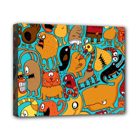 Creature Cluster Canvas 10  X 8  by Jojostore