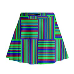 Fabric Pattern Design Cloth Stripe Mini Flare Skirt by Jojostore