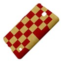 Fabric Geometric Red Gold Block Samsung Galaxy Tab 4 (7 ) Hardshell Case  View4