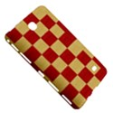Fabric Geometric Red Gold Block Samsung Galaxy Tab 4 (7 ) Hardshell Case  View5