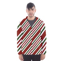 Line Christmas Stripes Hooded Wind Breaker (men) by Jojostore