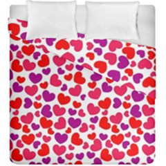 Love Pattern Wallpaper Duvet Cover Double Side (king Size) by Jojostore