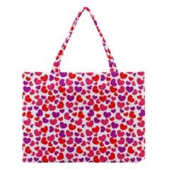 Love Pattern Wallpaper Medium Tote Bag by Jojostore