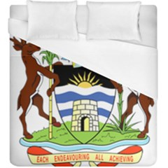 Coat of Arms of Antigua And Barbuda Duvet Cover (King Size) by abbeyz71