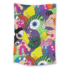 Another Weird Pattern Large Tapestry by Jojostore