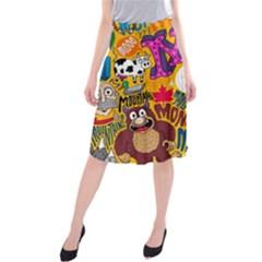 M Pattern Midi Beach Skirt by Jojostore