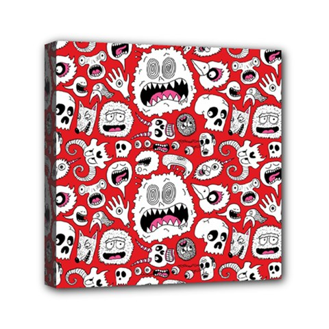 Another Monster Pattern Mini Canvas 6  X 6  by Jojostore