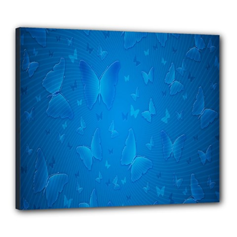 Butterflies Blue Butterfly Canvas 24  X 20  by Jojostore