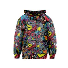 Bike Jumble Kids  Zipper Hoodie by Jojostore