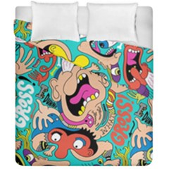 Cartoons Funny Face Patten Duvet Cover Double Side (california King Size) by Jojostore