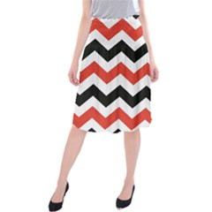 Colored Chevron Printable Midi Beach Skirt by Jojostore