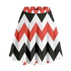 Colored Chevron Printable High Waist Skirt by Jojostore