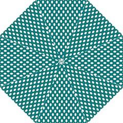 Circular Pattern Blue White Golf Umbrellas by Jojostore