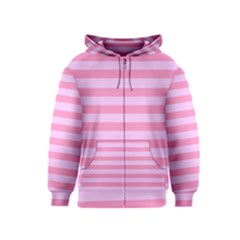 Fabric Baby Pink Shades Pale Kids  Zipper Hoodie by Jojostore
