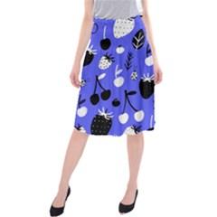 Fruit Strobery Leci Purple Midi Beach Skirt by Jojostore