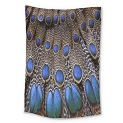 Feathers Peacock Light Large Tapestry