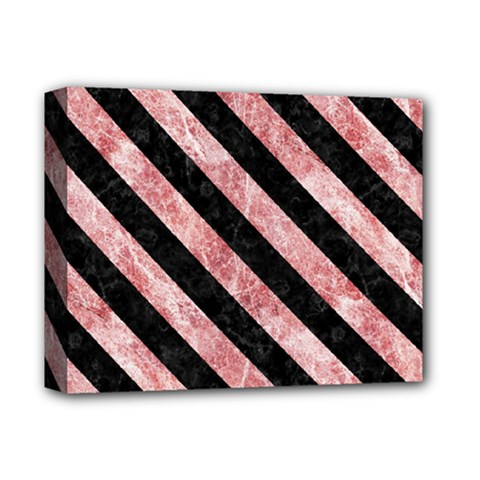 Stripes3 Black Marble & Red & White Marble (r) Deluxe Canvas 14  X 11  (stretched) by trendistuff