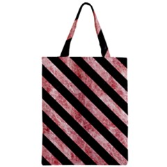 Stripes3 Black Marble & Red & White Marble (r) Zipper Classic Tote Bag by trendistuff