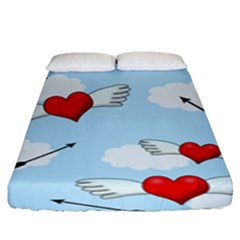 Love Hunting Fitted Sheet (king Size) by Valentinaart