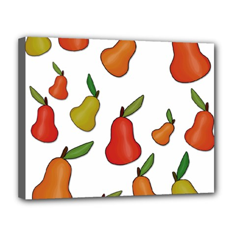 Decorative Pears Pattern Canvas 14  X 11  by Valentinaart