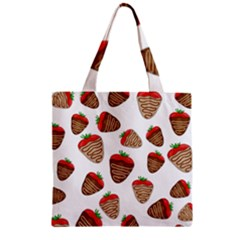 Chocolate Strawberries  Zipper Grocery Tote Bag by Valentinaart