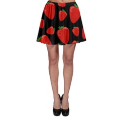 Strawberries Pattern Skater Skirt by Valentinaart