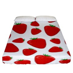Decorative Strawberries Pattern Fitted Sheet (king Size) by Valentinaart