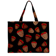 Chocolate Strawberries Pattern Zipper Mini Tote Bag by Valentinaart