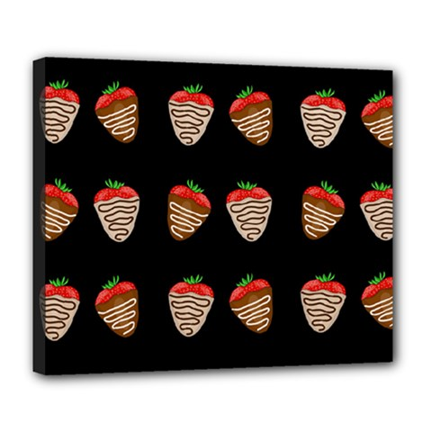 Chocolate Strawberies Deluxe Canvas 24  X 20   by Valentinaart