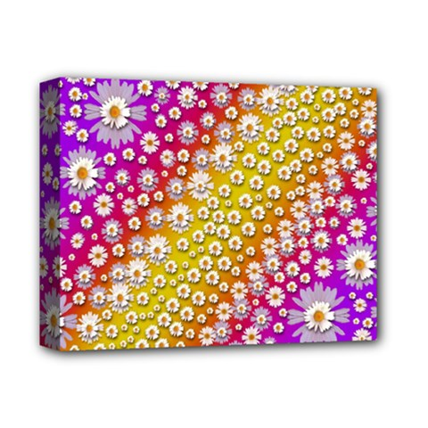 Falling Flowers From Heaven Deluxe Canvas 14  X 11  by pepitasart