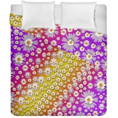 Falling Flowers From Heaven Duvet Cover Double Side (california King Size) by pepitasart