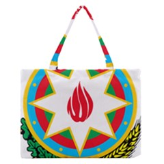 National Emblem Of Azerbaijan Medium Zipper Tote Bag by abbeyz71