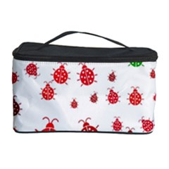 Beetle Animals Red Green Fly Cosmetic Storage Case by Amaryn4rt