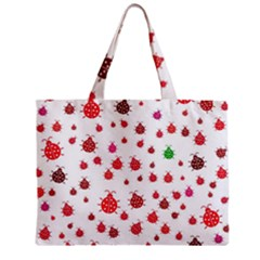 Beetle Animals Red Green Fly Zipper Mini Tote Bag by Amaryn4rt
