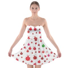Beetle Animals Red Green Fly Strapless Bra Top Dress