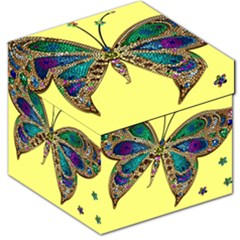 Butterfly Mosaic Yellow Colorful Storage Stool 12