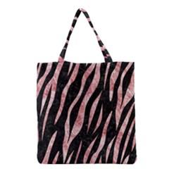Skin3 Black Marble & Red & White Marble Grocery Tote Bag by trendistuff