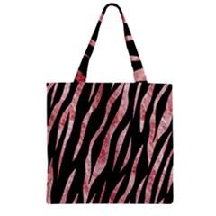 Skin3 Black Marble & Red & White Marble Zipper Grocery Tote Bag by trendistuff