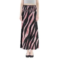Skin3 Black Marble & Red & White Marble Full Length Maxi Skirt by trendistuff
