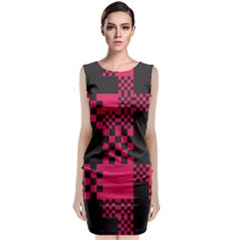 Cube Square Block Shape Creative Classic Sleeveless Midi Dress by Amaryn4rt