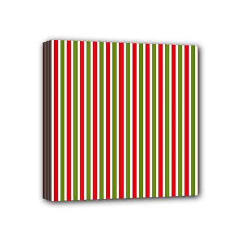 Pattern Background Red White Green Mini Canvas 4  X 4  by Amaryn4rt