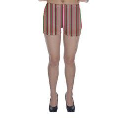 Pattern Background Red White Green Skinny Shorts by Amaryn4rt