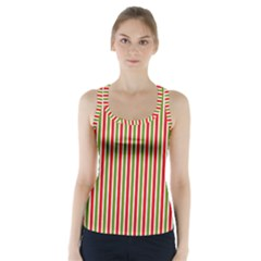 Pattern Background Red White Green Racer Back Sports Top