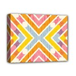Line Pattern Cross Print Repeat Deluxe Canvas 14  x 11