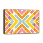 Line Pattern Cross Print Repeat Deluxe Canvas 18  x 12