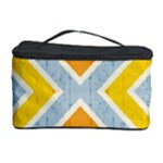 Line Pattern Cross Print Repeat Cosmetic Storage Case
