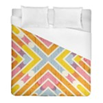 Line Pattern Cross Print Repeat Duvet Cover (Full/ Double Size)