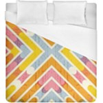 Line Pattern Cross Print Repeat Duvet Cover (King Size)